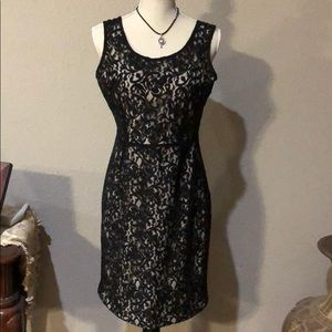 The Limited Black lace dress size 8.